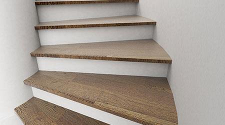 Onze schrijnwerker maakt en plaatst uw houten trap for Houten trap plaatsen